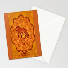 HORSE - Steampunk   Stationery Cards