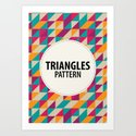 Triangles Pattern Art Print