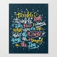 twinkle twinkle twinkle twinkle Canvas Print