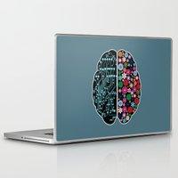 brain Laptop & iPad Skins featuring Brain by BlueLela