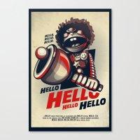 HELLO! HELLO! (white) Canvas Print