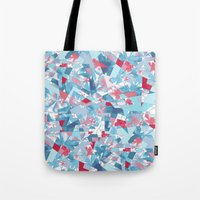 Shattered Floral Tote Bag