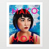 Mako Mori (v2) Art Print