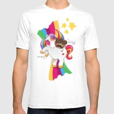 Chestnut Girl And Starlight SMALL Mens Fitted Tee White
