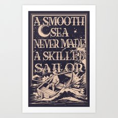 A Smooth Sea Art Print