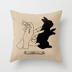 Hand-shadows Mr rabbit Throw Pillow