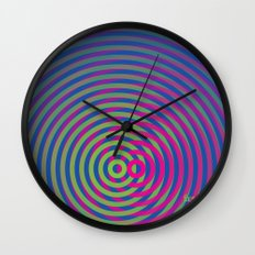 SoundWaves Lime/Magenta Wall Clock