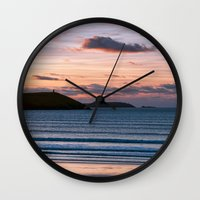 Polzeath Sunset Wall Clock