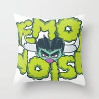 Demon Noise Throw Pillow