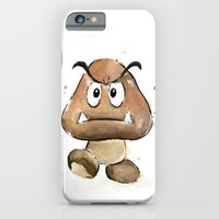 Goomba Watercolor Painting iPhone 6 Slim Case