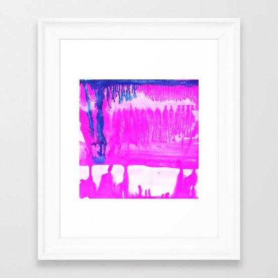 Dip Dye Hot Pink Framed Art Print