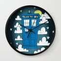 blue box Wall Clock