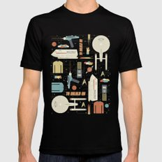 To Boldly Go... SMALL Black Mens Fitted Tee