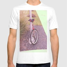 Unicycle Mens Fitted Tee SMALL White