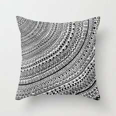 Black Pulse o1. Throw Pillow