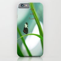 iPhone & iPod Case featuring Stop and Breathe - A Reminder by Maite Pons
