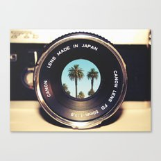 focus on palms Canvas Print