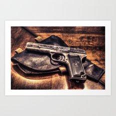 Gun HDR Art Print