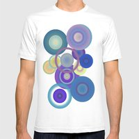 blue Mens Fitted Tee White SMALL
