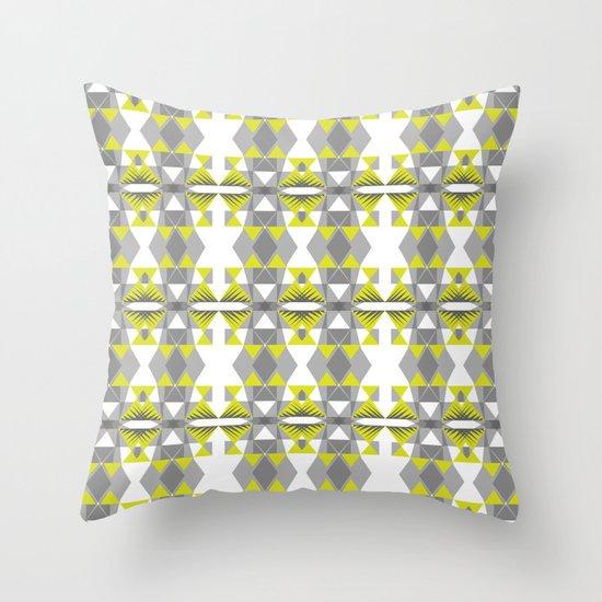 Neon threads Throw Pillow
