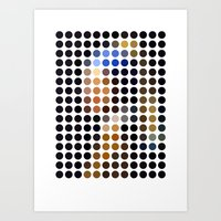 Girl with a Pearl Earring remixed (2009) Art Print