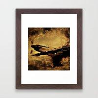 Dixie's Flight in the Storm Framed Art Print