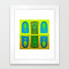 Marakesh. Yellow and Blue. Framed Art Print