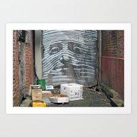 Alley Face Art Print
