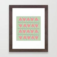 watermelon repeat Framed Art Print