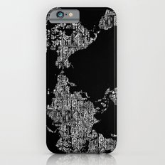 Passport Stamp Map Special Edition, Black and White Slim Case iPhone 6s