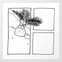 Miniature Palm Tree Art Print