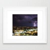 Lightening Framed Art Print