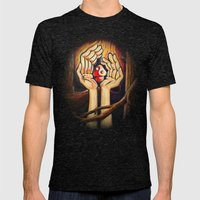 The Fruit of Duality Mens Fitted Tee Tri-Black SMALL