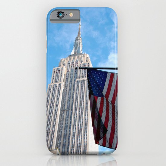 Empire State and American Flag iPhone & iPod Case