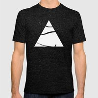 time to snow! Mens Fitted Tee Tri-Black SMALL