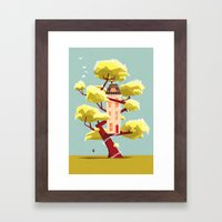 The treehouse in my dream Framed Art Print