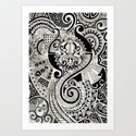 Maori tribal design Art Print