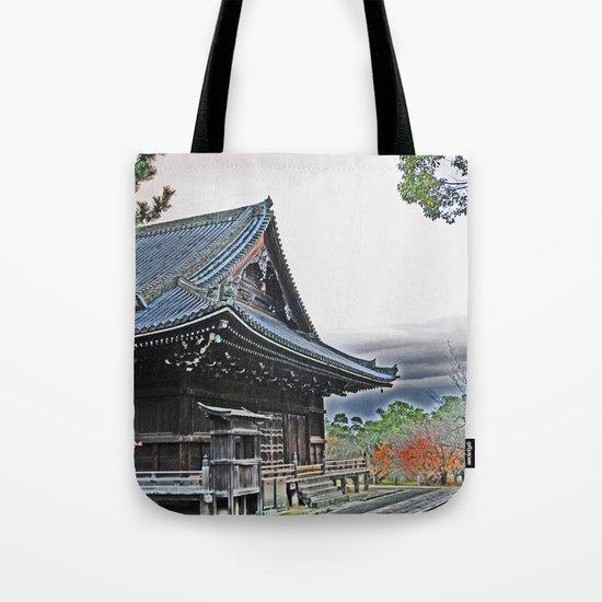 Temple at Dusk Tote Bag