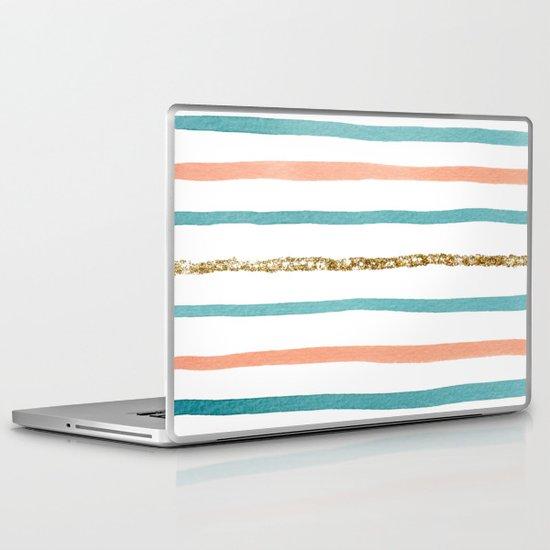 Sparkle Stripe Laptop & iPad Skin
