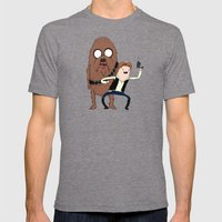 Space Adventure! Mans Be… Mens Fitted Tee Tri-Grey SMALL