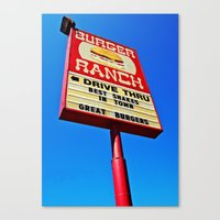 Canvas Print featuring The Burger Ranch by Vorona Photography
