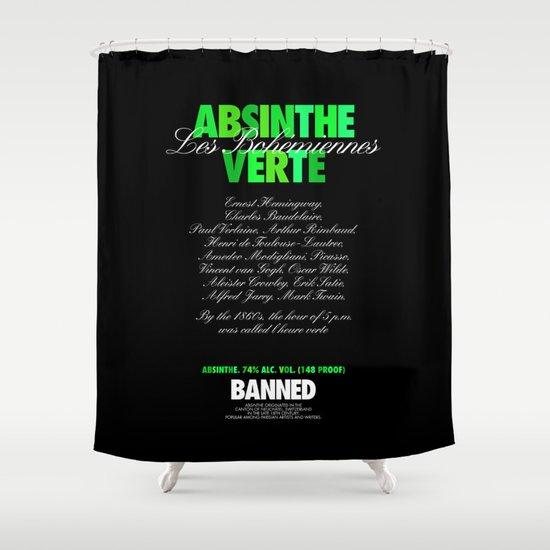 ABSINTHE VERTE Shower Curtain