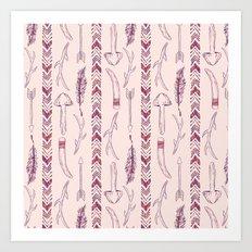 Tribal Mushroom Art Print