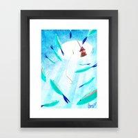 Ice Fisher's Nap Framed Art Print