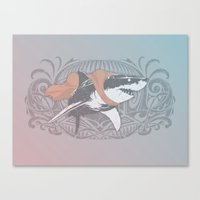 Fearless Creature: Whitey Canvas Print