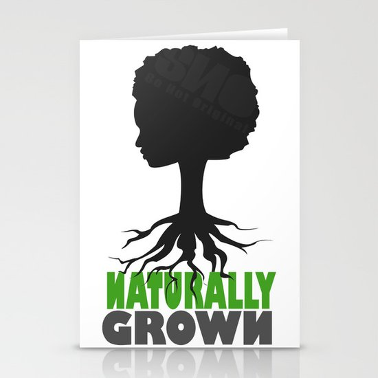 naturally grown Stationery Card