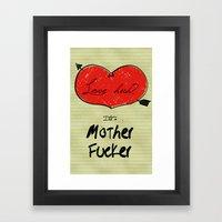Love Huh? Framed Art Print