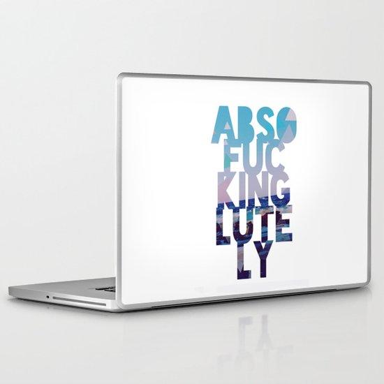 Abso....lutely! II Laptop & iPad Skin