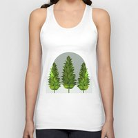 three green trees Unisex Tank Top