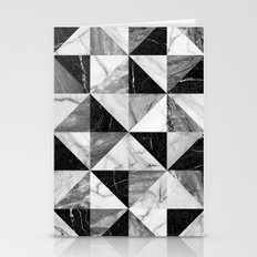 Marble Triangles Stationery Cards